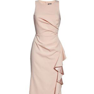 Vince Camuto Ruffle Slit Trumpet Gown 8